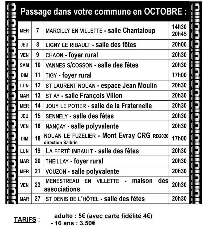 Programme Octobre